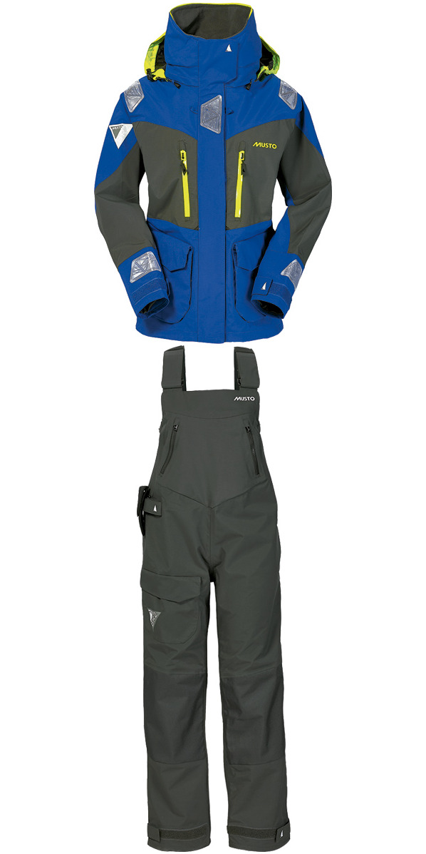 2016 Musto BR2 Ladies Offshore Jacket SB003W3 & Offshore Dropseat Trouser Surf Blue/Dark Grey SB004W2 COMBI SET