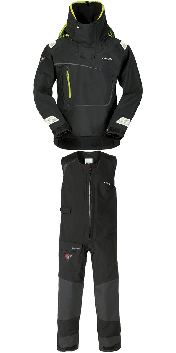 2016 Musto MPX Offshore Race Smock SM1464 & SALOPETTES SM0012 in Black