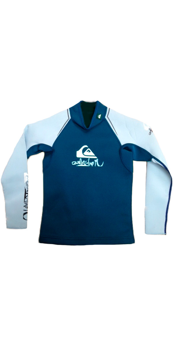 Quiksilver Junior Syncro 1mm Long Sleeve Neo Top Blue/Grey SY83JS