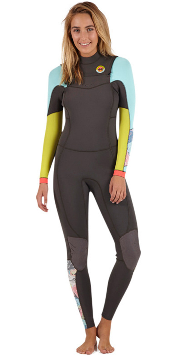 2015/16 Billabong Ladies Salty Dayz 4/3mm Chest Zip Wetsuit - HERITAGE U44G01