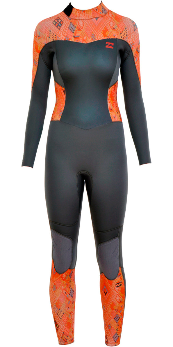 2015/16 Billabong Ladies Synergy 4/3mm Back Zip Wetsuit - GUATEMALA U44G02