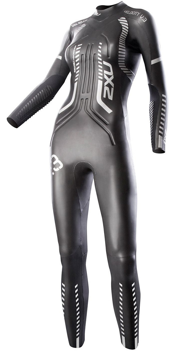2014 2XU LADIES V:3 Velocity TRIATHLON Wetsuit in Black/Silver WW2355