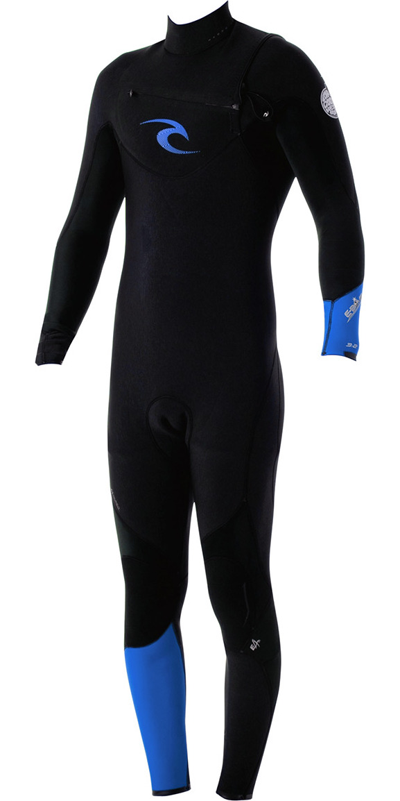 2015 Rip Curl E-Bomb Pro 3/2mm GBS CHEST ZIP Steamer Wetsuit Black/Blue WSM4AE