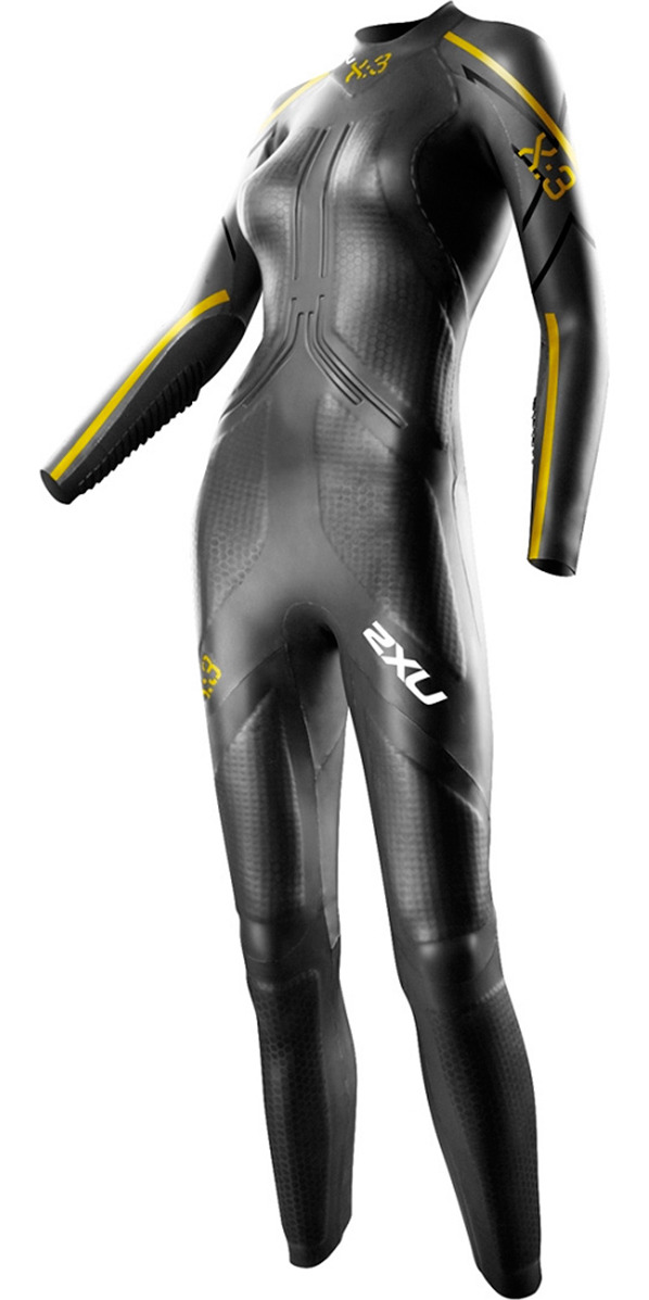 2015 2XU Ladies X:3 Project X TRIATHLON Wetsuit in Black/Gold WW3416