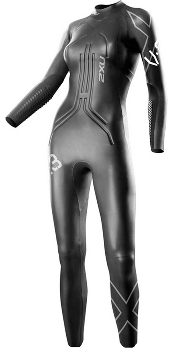 2015 2XU LADIES V:3 Velocity TRIATHLON Wetsuit in Black/Silver WW3418
