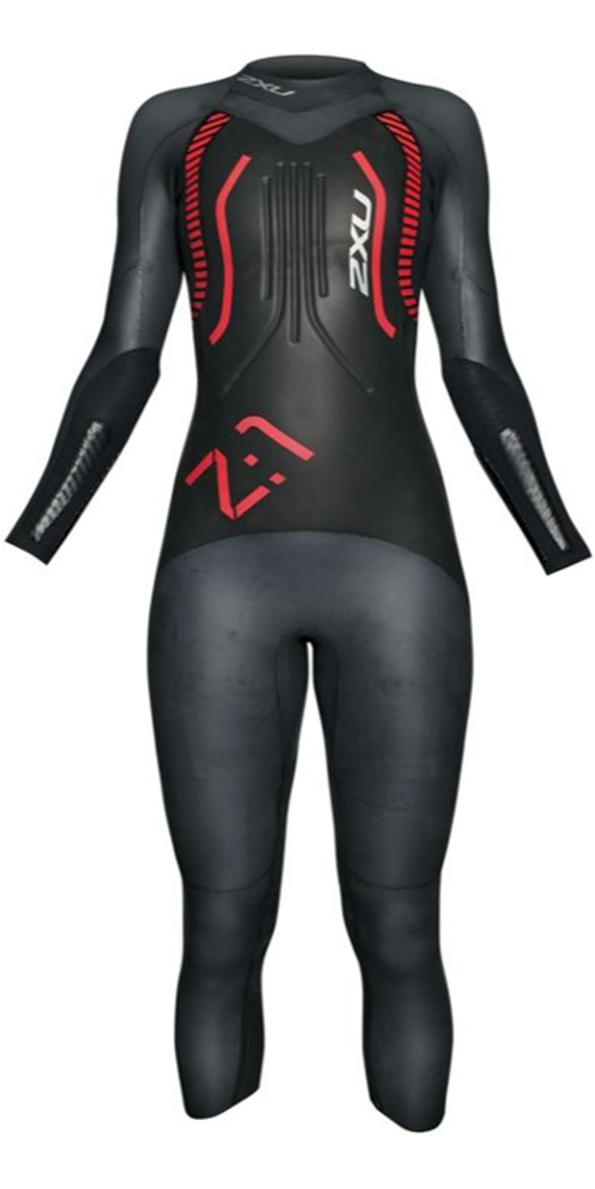 2014 2XU LADIES Z:1  Z1 Triathlon  Wetsuit  in Black/RED WW2515