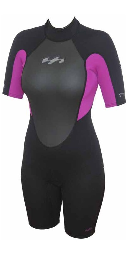 Billabong Ladies Synergy 2mm Shorty in Black/Violet G42G02
