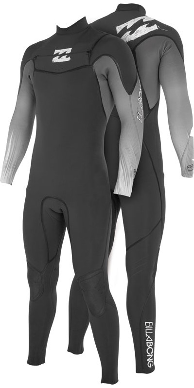 2013 Billabong Revolution 3/2mm CHEST ZIP Wetsuit in Black/Black Fade L43m05