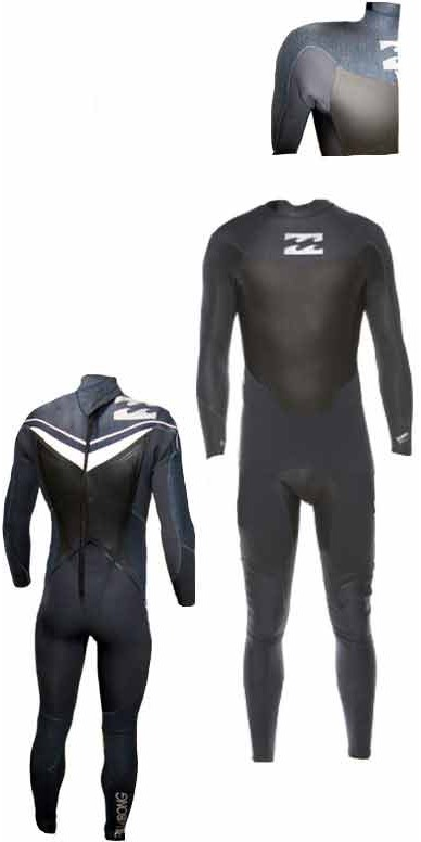 Billabong Foil 5/4/3mm back zip Wetsuit in Graphite/Drill/White L45M08
