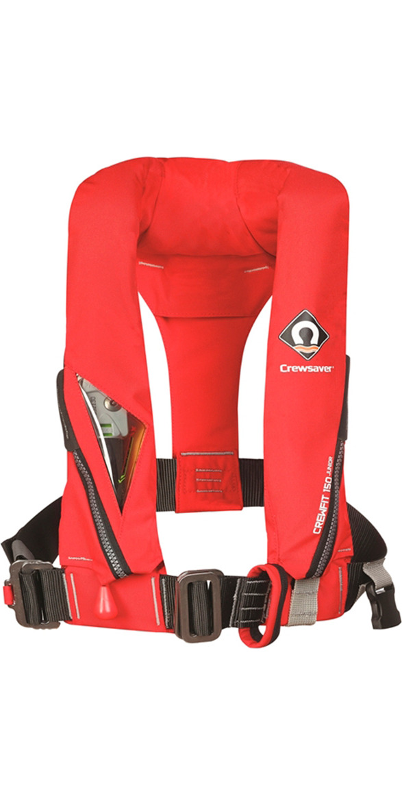 **2015 Crewsaver Crewfit 150N Junior Lifejacket Auto With Harness Red 9005RA