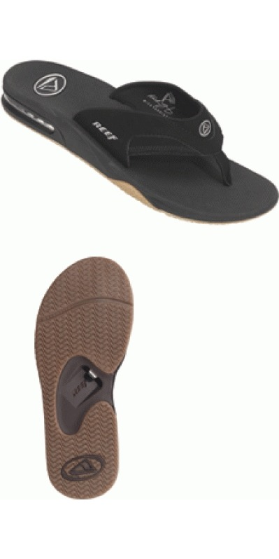 reef fanning flip flops bottle opener by reef reef fanning flip flops nubuck or full grain. Black Bedroom Furniture Sets. Home Design Ideas