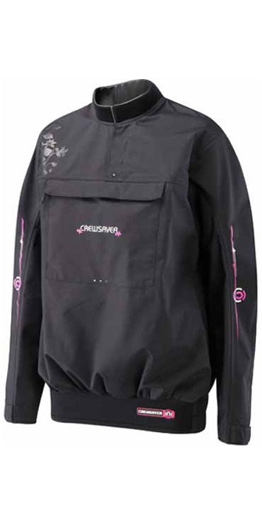 Crewsaver Ladies Effect Spray Top in Black/Magenta 6675