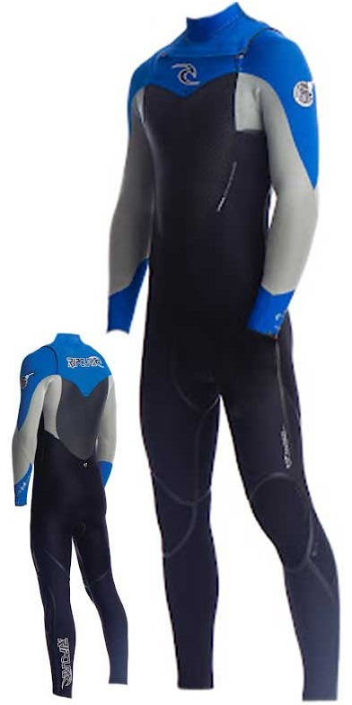 Rip Curl Flashbomb Plus 5/3 CHEST ZIP Steamer Black/Blue/Silver WSMXIF AWARDED WETSUIT OF THE YEAR