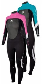 Billabong Synergy 3mm GBS sealed seam Ladies Steamer Wetsuit in Black/PINK  B43G02