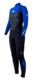 2013 Ripcurl Ladies FLASHBOMB 5/3mm CHEST ZIP in Black/BLUE WSMXCG