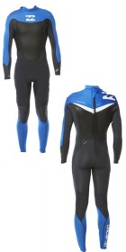 2013 Billabong Foil 5/4/3mm Back Zip Graphite/Ocean/White    L45M09