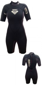 Roxy Ladies 2mm Shorty Wetsuit in Graphite/White detailing SIZE 8