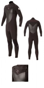 2013 Ripcurl Flashbomb 4/3mm GB CHEST ZIP Wetsuit in Black WSM4AF