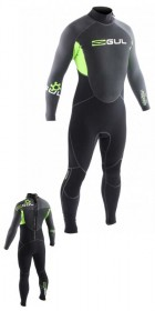 Gul Response 3/2mm Flatlock Wetsuit - Graphite/Lime RE1321 2012