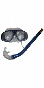 Typhoon Reef PVC Mask and Snorkel Set BLUE