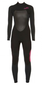 Billabong Synergy 4/3 mm BACK ZIP Wetsuit  Black/Fuscia H44g03 2012