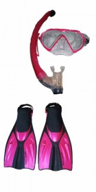 Bodyglove Adult Snorkel set in PINK BG2051
