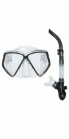 Typhoon TM2 Mask+Snorkel Set SILVER