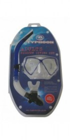 Typhoon TM2 Mask+Snorkel Set BLUE