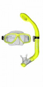Typhoon TM4 KIDS/LADIES  silicon Mask and Snorkle Set in Yellow