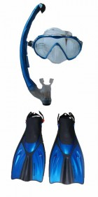 Bodyglove Adult Snorkel set in BLUE BG2051